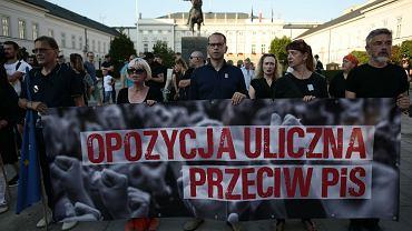Protest 'Czarna Procesja' w Warszawie przeciwko zmianom w ustawie o sadownictwie.