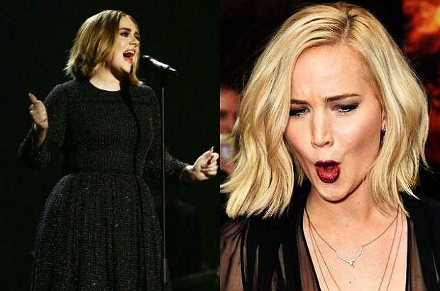 Adele i Jennifer Lawrence
