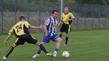Mirosław Okoński podczas meczu Oldboje Lecha Poznań - TPS Winogrady