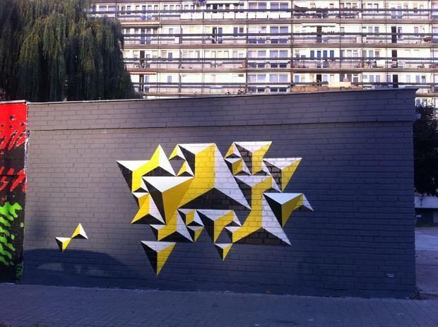 Mural krzysztofa goli skiego przy ul ko miana for Mural ursynow
