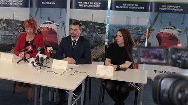Od lewej: Magdalena Porwet, pełnomocnik zarządu PGZ, Sławomir Latos, były prezes zarządu Nauty, Anna Bulman, rzeczniczka prasowa Nauty.