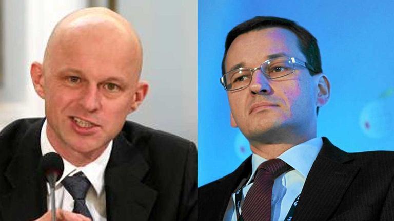 Paweł Szałamacha, były minister finansów i Mateusz Morawiecki, jego następca