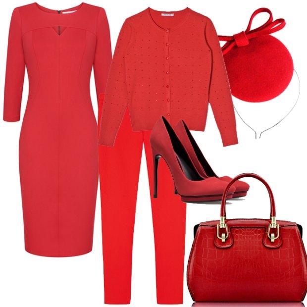 Czerwone ubrania i dodatki na jesie�