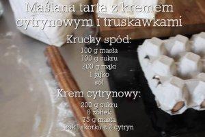 Ma�lana tarta z kremem cytrynowym i truskawkami