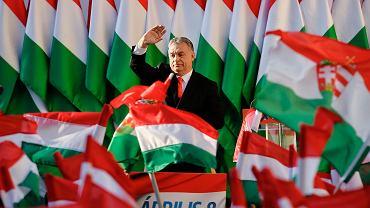 Wybory na Węgrzech. Wiec Viktora Orbana