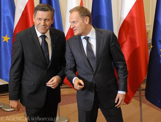 Janusz Piechoci�ski i Donald Tusk