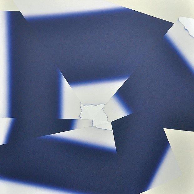 Bez tytułu 207, 2013, akryl na płótnie, 160 x 160 cm.