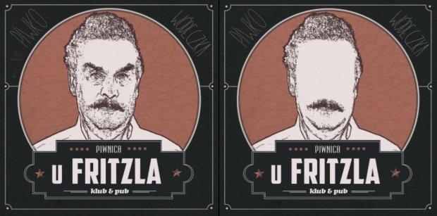 Po lewej logo, kt�rym pierwotnie reklamowa� si� bar. Po po�udniu zmienili na logo po prawej