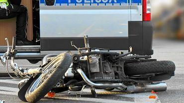 Wypadek motocykla (zdjęcie ilustracyjne)