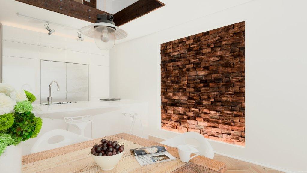 Drewniane płytki na ścianę