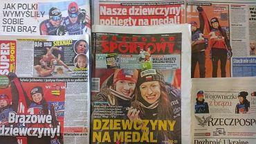 Prasa o brązowym medalu Jaskowiec i Kowalczyk