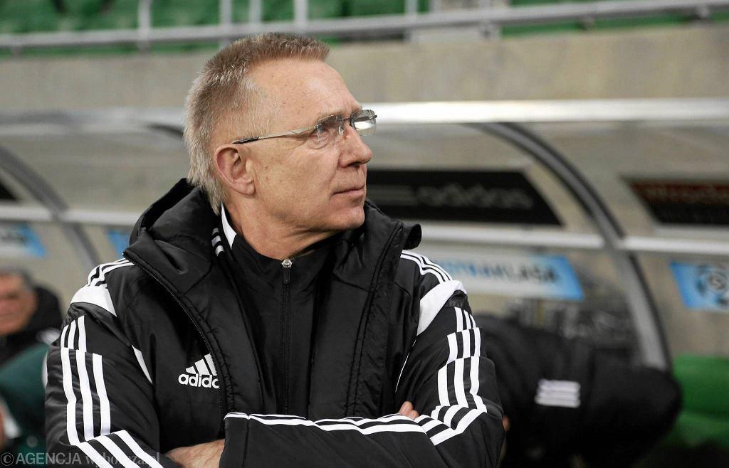 Trener Śląska Romuald Szukiełowicz