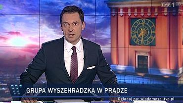 """Wydanie """"Wiadomości"""" 15 lutego poprowadził Krzysztof Ziemiec"""