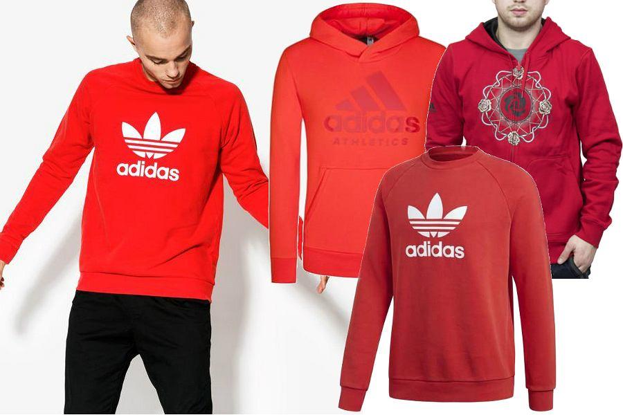 Czerwone bluzy Adidas