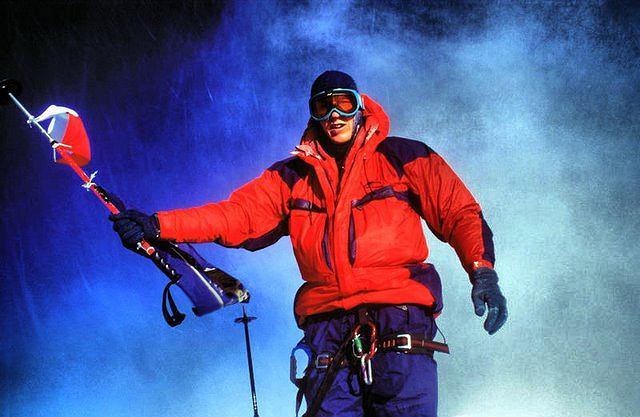 Andrzej Marciniak na szczycie Mount Everestu