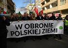 """Rolniczy protest w Warszawie """"w obronie polskiej ziemi"""""""