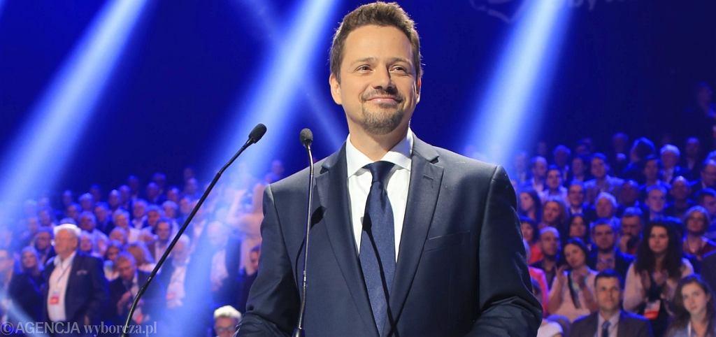 Rafał Trzaskowski na konwencji PO (fot. Jacek Marczewski/AG)