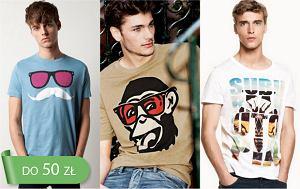 Męskie koszulki z nadrukiem do 50 zł