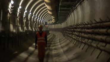 Zwiedzanie budowy metra i tunelu na stacji II linii metra - stacja Księcia Janusza