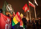 Dziewczyna z tęczową flagą stanęła sama przed działaczami ONR. Prezydent Poznania gratuluje jej odwagi