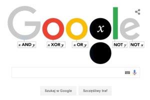 George Boole - jak działa dzisiejszy doodle?