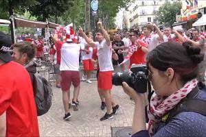 """Euro 2016. Polska - Szwajcaria. """"Te oczy zielone, zielone..."""", Polacy opanowali Saint-Etienne"""
