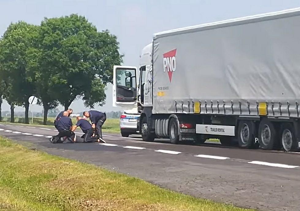 Zatrzymanie kierowcy TIR-a, który zabił matkę w okolicach Łowicza