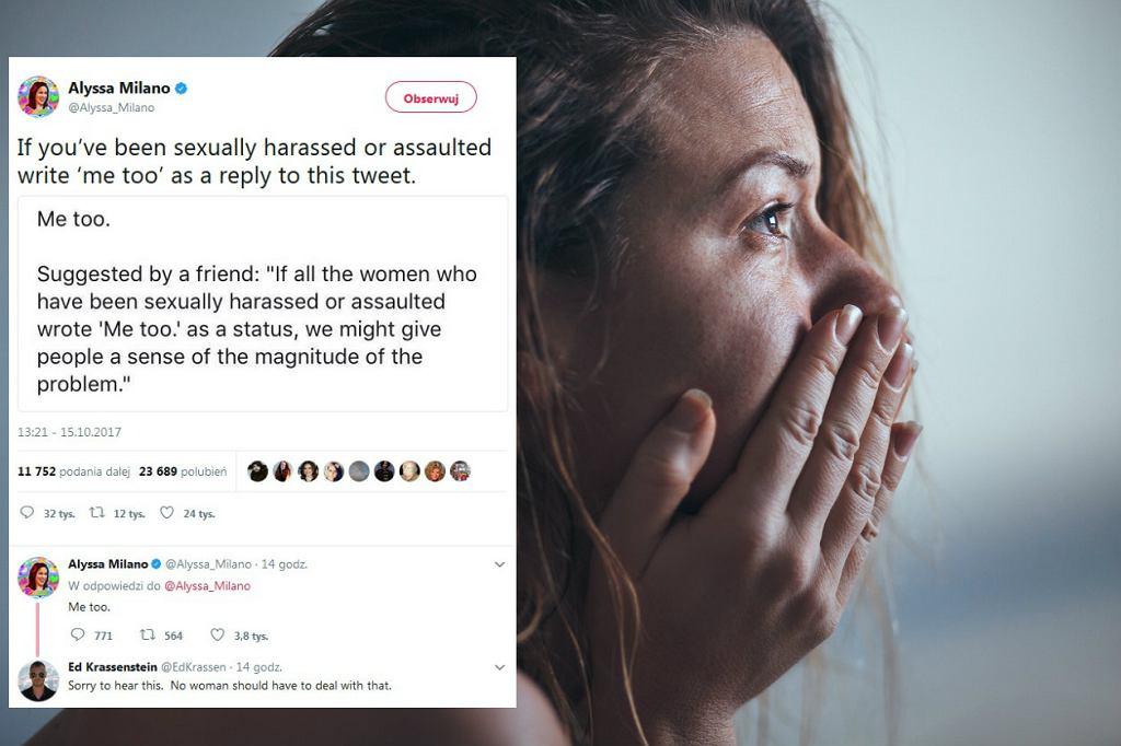 Kobiety i mężczyźni dzielą się w sieci historiami o tym, jak padli ofiarami przemocy na tle seksualnym