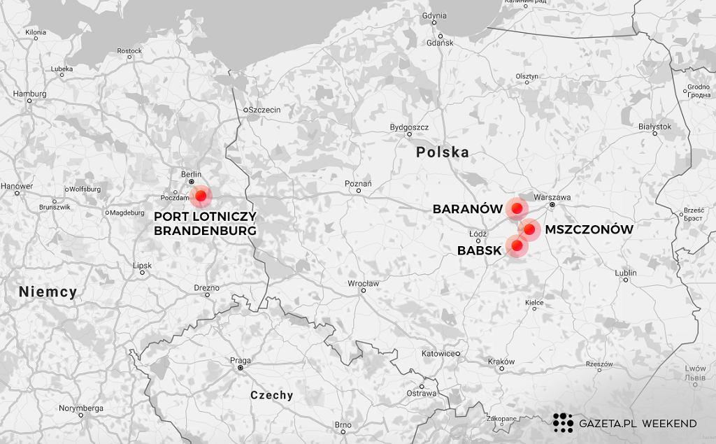 Centralny Port Lotniczy i Berlin-Brandenburg byłyby dla siebie konkurencją (Grafika: Marta Kondrusik/Gazeta.pl)