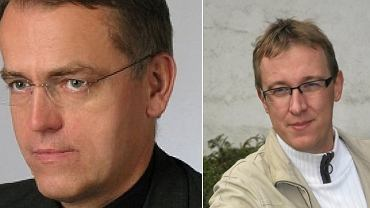 Ksiądz Dariusz Oko oraz jacek Kochanowski, wykładowca UW