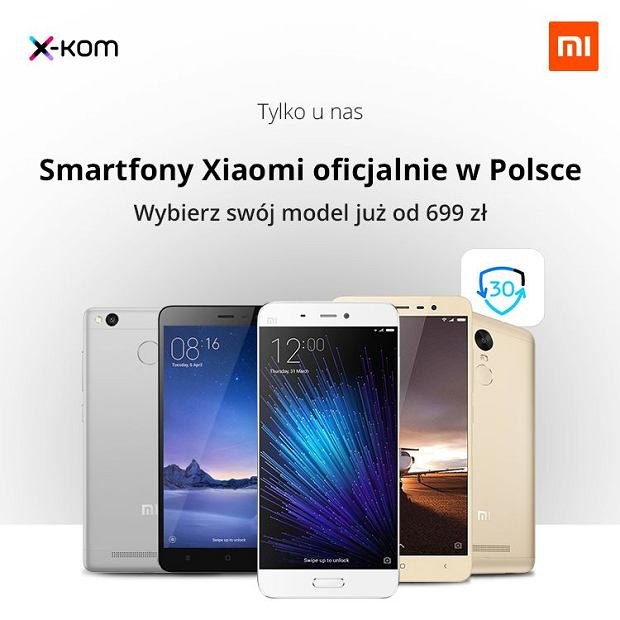 Xiaomi Smartphones in the network  storeóX-Kom