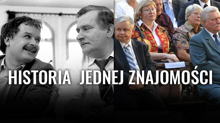 Lech Kaczyński i Lech Wałęsa w w 1990 i 2005 roku