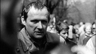 Adam Michnik. Warszawa, 1988