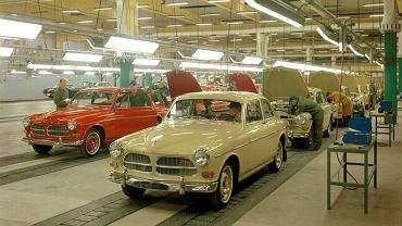 Produkcja samochodów Volvo w fabryce Torslanda