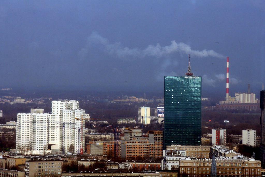 Panorama Warszawy, dzielnica Wola, widok z Warsaw Trade Center.