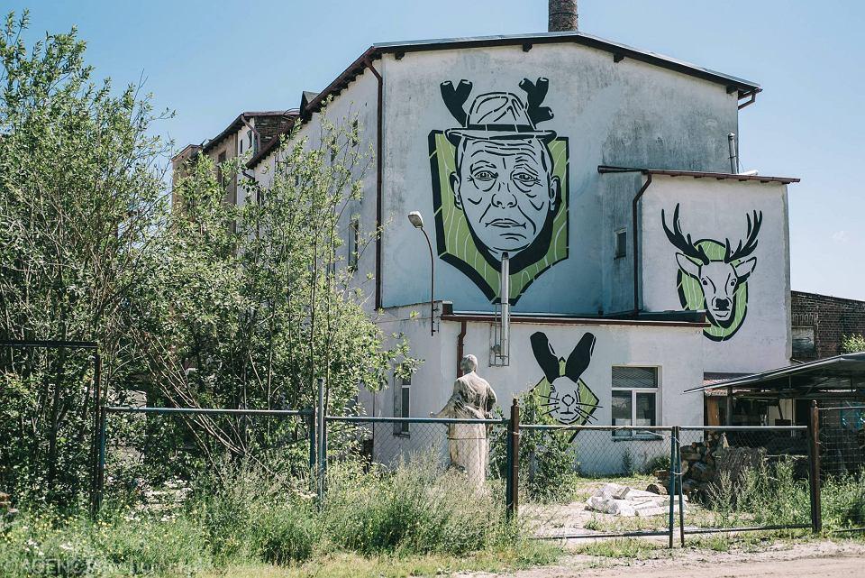 Mural w Gdańsku z ministrem środowiska Janem Szyszko