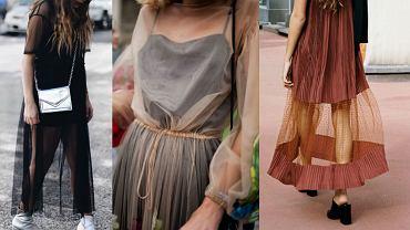 Prześwitujące sukienki