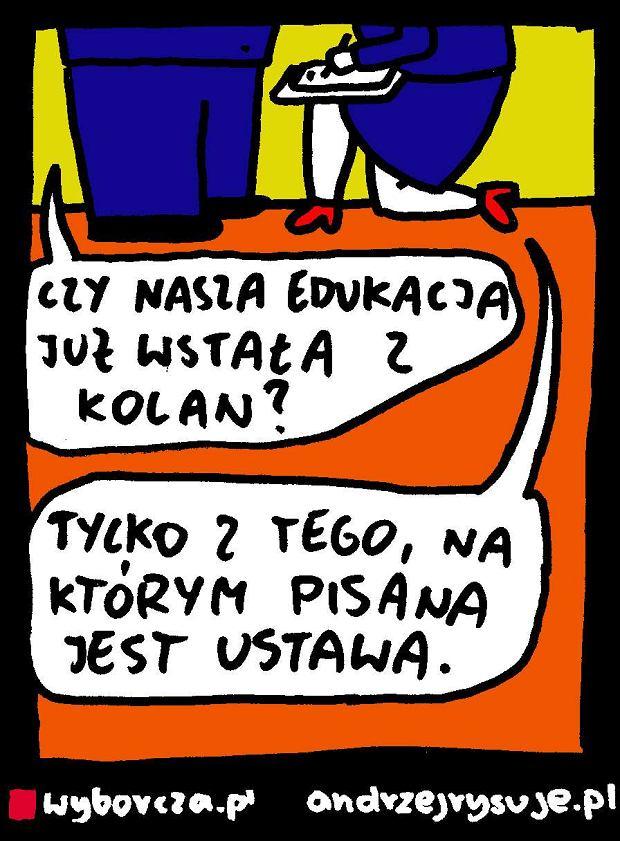 Andrzej Rysuje   Reforma edukacji - Andrzej Rysuje, 23.09.2016 -