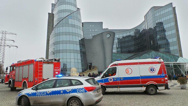 Pożar w gmachu Telewizji Polskiej na Woronicza.