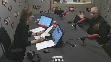 Włodzimierz Cimoszewicz w studiu Radia TOK FM.