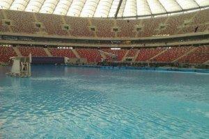 Stadion Narodowy zamieni� si� w basen dla fan�w windsurfingu