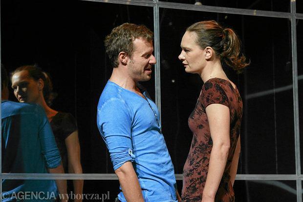Maria Seweryn i Grzegorz Małecki w spektaklu 'Konstelacje'