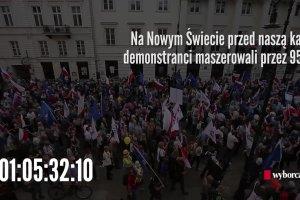 Największa demonstracja w Polsce w 70 sekund