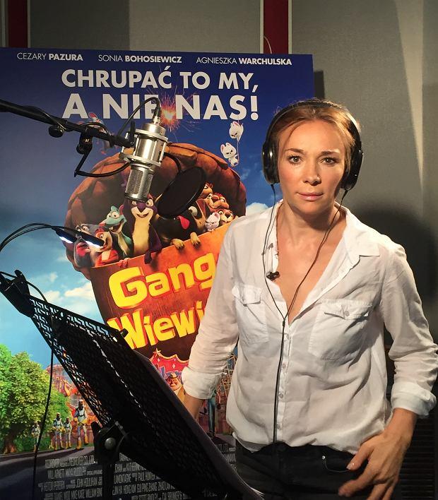 Sonia Bohosiewicz na planie dubbingu 'Gang Wiewióra 2'