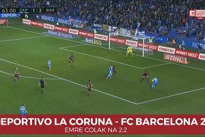 La Liga. Deportivo La Coruna - FC Barcelona 2:4. Colak wyrównuje na 2:2 [ELEVEN SPORTS]