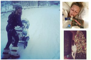 Natalia Vodianova relacjonuje z mro�nej Moskwy, Irina Shayk pokazuje choink�, a Anja Rubik choruje....