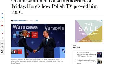 """""""Washington Post"""": Obama zbeształ polską demokrację"""