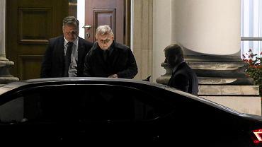 Trzecie spotkanie Duda - Kaczyński. Prezes PiS opuszcza Belweder. Warszawa, 6 października 2017