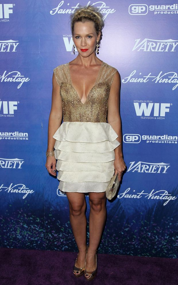 Jennie Garth attends the Variety and Women in Film Pre-Emmy Event at Scarpetta on Friday, Sept. 21, 2012, in Beverly Hills, Calif. (Photo by Matt Sayles/Invision/AP)