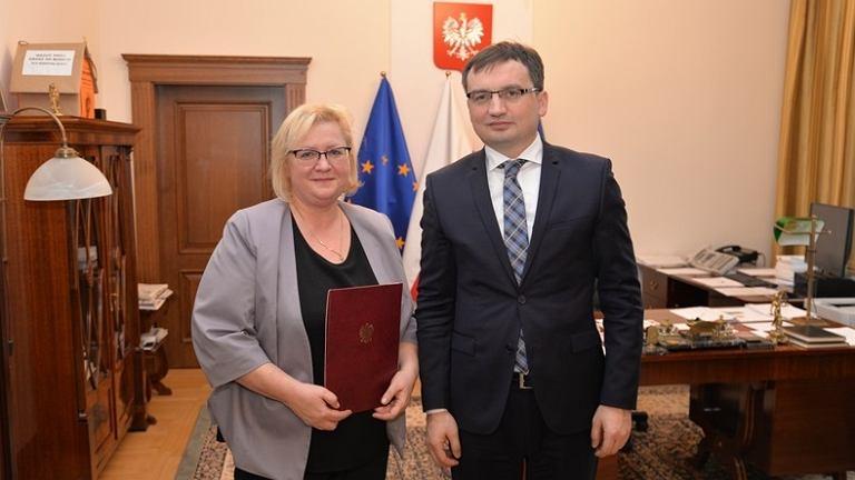 Małgorzata Manowska, Zbigniew Ziobro, 2016 r.